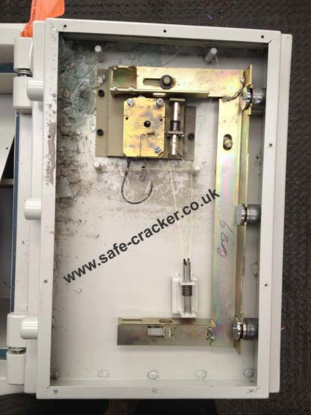 safe opened after locksmith smashed glass