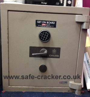 Safe with failed electronic combination lock