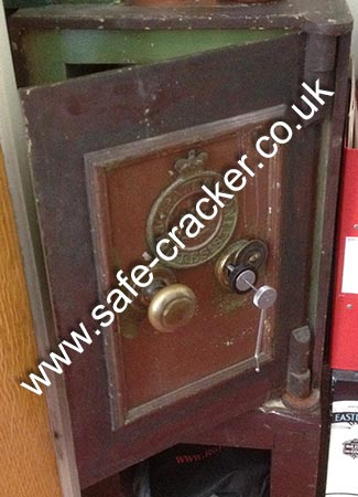 Old safe picked open
